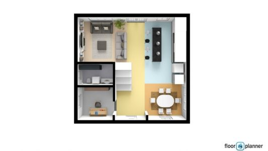 3D Top Ground Floor Plan - Assign 4
